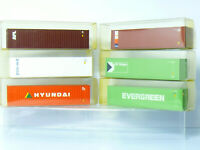 Container HYUNDAI ,CP CHIPS , AOL , ICS ,EVERGREEN  etc  6 x 40ft    1:87/ H0