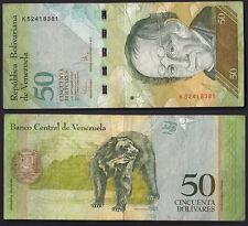 VENEZUELA 50 Bolivares Banknote UNC BANCONOTA PERFETTA 2009 Fine Conservation