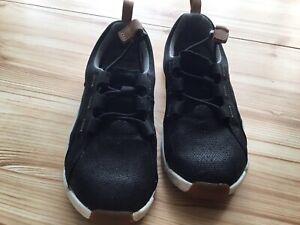 Clarks Trigenic Shoes Boys Size 12 G Black