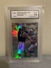 New listing PEYTON MANNING~1998 TOPPS GOLD LABEL GMA-10 GEM-MT HOT GRADED ROOKIE RC CARD #20