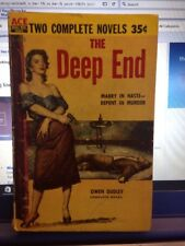 1956 Double Mystery Paperback Quaking Widow And The Deep End