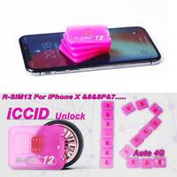 Latest R-SIM12+Nano Unlock Card for iPhone 7/6/6s/5S/5C SE Plus 4G iOs 10.x Lot