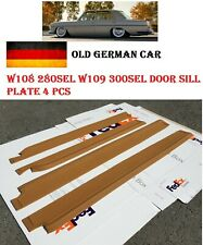 For Mercedes W108 W109 Door Sill Plate scuff pads Palomino Rubber Cover Trim 4Pc