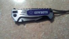 dallas cowboys blue sport knife with a box and a clip on the back.NEW. NFL