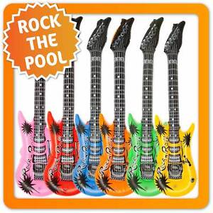 6x Aufblasbare Luftgitarre Rock-n-Roll Rockstar Airguitar Luft Gitarre Gitarren