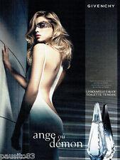 PUBLICITE ADVERTISING 046  2008  Givenchy eau toilette femme Ange ou démon
