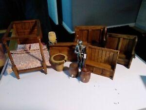 1/12 Dolls house tudor furniture set 2 barton settles??