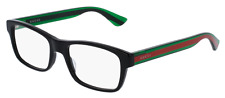 *NEW AUTHENTIC* GUCCI GG0006OA 002 BLACK GREEN EYEGLASS FRAME, SIZE 55mm