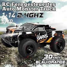 30 km/h Monster Truck 2.4G RC Ferngesteuertes Auto 1:14 Geländewagen LKW Offroad