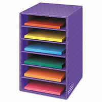 Fellowes Vertical Classroom Organizer 6 shelves 11 7/8 x 13 1/4 x 18 Purple