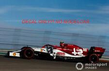 decal Alfa Romeo Sauber USA GP19 Raikkonen Giovinazzi 1/43 minichamps spark F1