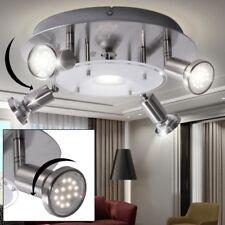 Luxus LED Decken Leuchte Esszimmer Rondell Strahler Glas Lampe Spots schwenkbar