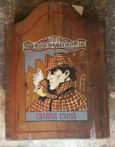 Vintage Sherlock Holmes Charing Pipe Cabinet