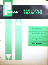 PEELLE Richmond Elevator Products Catalog Neoprene ASBESTOS Door Moulding 1964