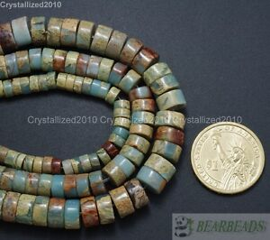 """Natural Colorful Serpentine Gemstone Heishi Beads 2mm 4mm 5mm 6mm 8mm 10mm 16"""""""