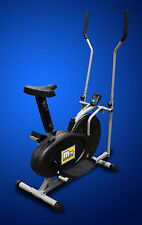 New 2in1 Exercise Bike Elliptical Machine Cross Trainer Home Gym Fitness Workout
