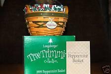 Longaberger Peppermint Basket Combo SIGNED(2) Mint