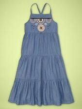 Gap Kids Girl Embellished Denim Maxi Dress New With Tags