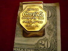 Money Clip:  Drink Coca Cola 1915  tag
