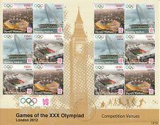 Uganda 2012 Mnh Juegos Olímpicos de Londres 12 Hojas competencia Sedes Estadio de Wembley
