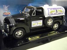 CHEVROLET PICK UP CITERNE TANKER 1950 noir au 1/18 SOLIDO 8159 voiture miniature