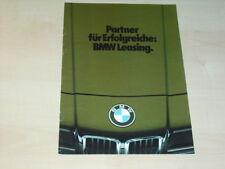 18130) BMW 3er 7er Leasing Prospekt 198?