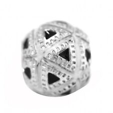 De Buman Sterling Silver Triangle Charm Bead