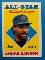 1988 Topps Chicago Cubs Baseball Card #401 Andre Dawson All Star
