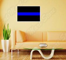 """Thin Blue Line Police Officer Support  Wall Sticker Room Interior Decor 25""""X18"""""""