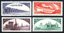"""China PRC 163-166, MNH. """"Glorious Mother Country"""". Dam,Train,Oil refinery, 1952"""