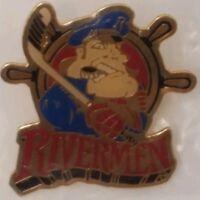 VTG 1995 Defunct Peoria Rivermen Pin Back IHL Minor League Hockey Team Illinois