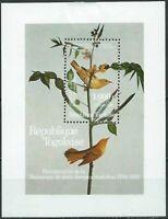 Togo #1337 MNH S/S CV$13.00 Audubon Bicentenary