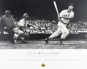 Vintage Ted Williams Limited Edition Boston Red Sox Triple Crown Lithograph