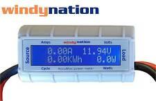 Accumax Watt Volt Ammeter Power Meter Analyzer Wind Solar RC Energy Monitor