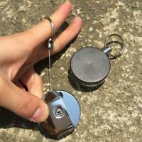 Retractable Metal Reel Badge ID Holder Belt Clip Nurse G Ring Card Name Key R6D7