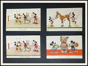 ⭐ Mickey Mouse Disney German Postcards from 1930's - DISNEYANA.IT ⭐