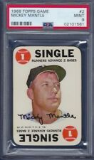 1968 TOPPS GAME NO. 2  MICKEY MANTLE PSA 9 MINT CENTERED PRISTINE