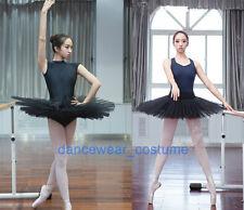 New Women Professional Ballet Tutu Hard Organdy Platter Skirt Dance Dress 2color