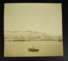 Fotografía c1875 Puerto d'Alger Argelia Magreb veleros naves a vapor