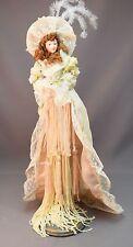Vintage Dresser Victorian Tassel Doll FABULOUS Bride w Stand Fancy Gown & Bonnet