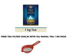 Brooke Bond Taj Mahal Tea Chai Patti 1 KG Pack Free Tea Filter Chai Chalni