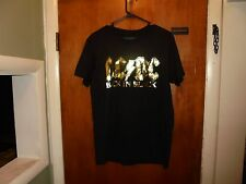Ac/Dc Back In Black Small Size Black T Shirt w/ Gold Letters ( Official Acdc )