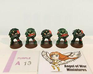 40K Space Marines Combat Squad Mono-Pose 2ND Ed. Era Dark Angels (x5) PA13