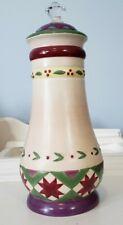 "Jim Shore Heartwood Creek Porcelain Canister Jar Enesco Whimsical Folk 11"" Decor"