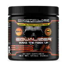 EQUALIZER AM by Chaotic Labz 6 in 1 BEST PRE-WORKOUT FORMULA TANGERINE FLAVOR