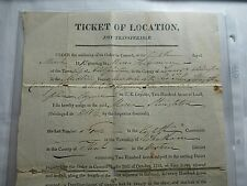 Rare 1827 Document Signed by Thomas Ridout, to UE Loyalists in Adolphustown