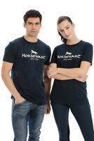 Horseware Signature Cotton Short Sleeve Breathable Printed T-Shirt Navy XXS-XXL
