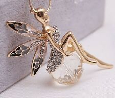 Angel Rhinestone Crystal Wings Wings fairy Butterfly Necklace / sweater chain WF
