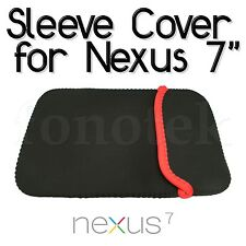 "7"" Soft Bag Pouch Sleeve Cover Case eBook Reader Tablet Google Nexus iPad Mini"