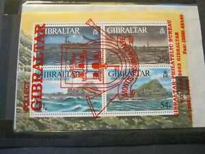 GIBRALTAR  1996  WARSHIPS  MINIATURE SHEET  SG MS779  MINT NEVER HINGED